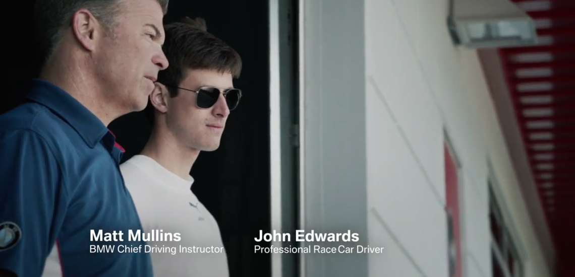 Click here to watch John's latest video. Published on July 16, 2016.  BMW outfitted the BMW M6 and the  M6 GTLM with RC technology to create a real life racing game. Matt Mullins and John Edwards have driven thousands of laps on the race track - but never like this.  Enjoy.